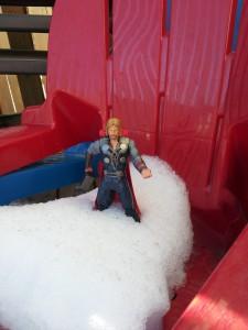 Thor enjoying the light snow